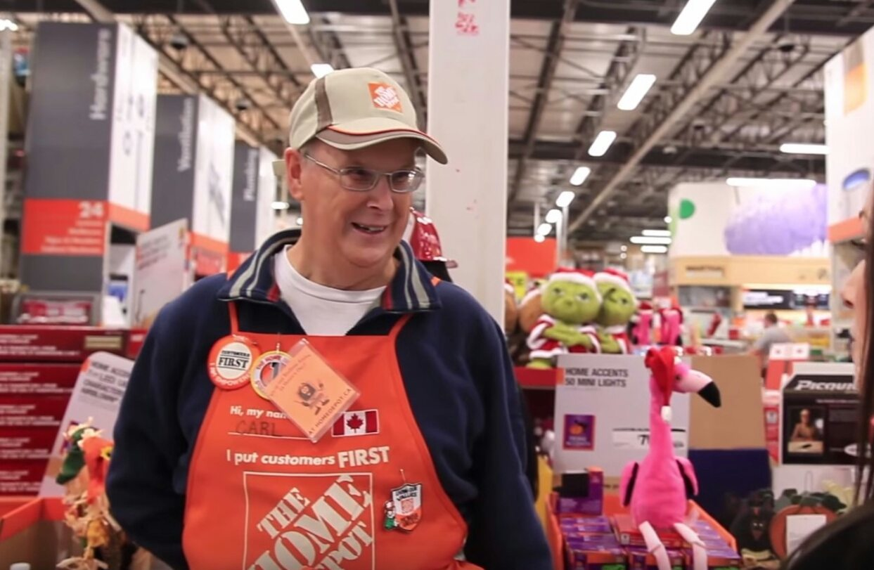 Carl at Home Depot